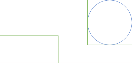 Union of two shapes with bounding boxes.