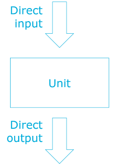 A unit with direct input and output, but no dependencies.